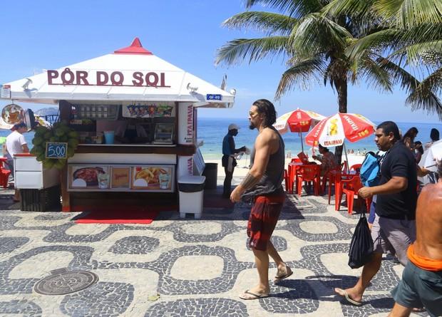 Jason Momoa, Khal Drogo em Game of Thrones, no Rio de Janeiro (Foto:  Gabriel Reis / Ag. NewsExclusivo)