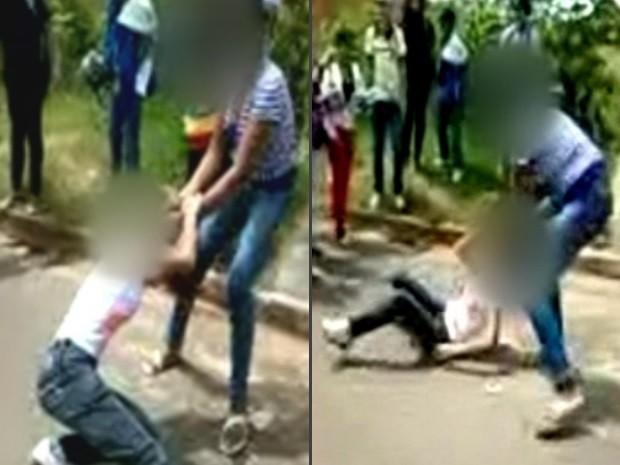 Vídeo flagra briga entre alunas do 6º ano de escola pública em Novo Gama b75471e28b982
