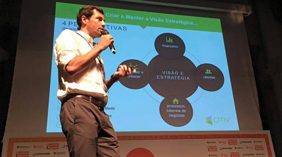 Rodrigo Vasconcellos, da CMV Solutions, durante o PEGN Labs (Foto: Adriano Lira)