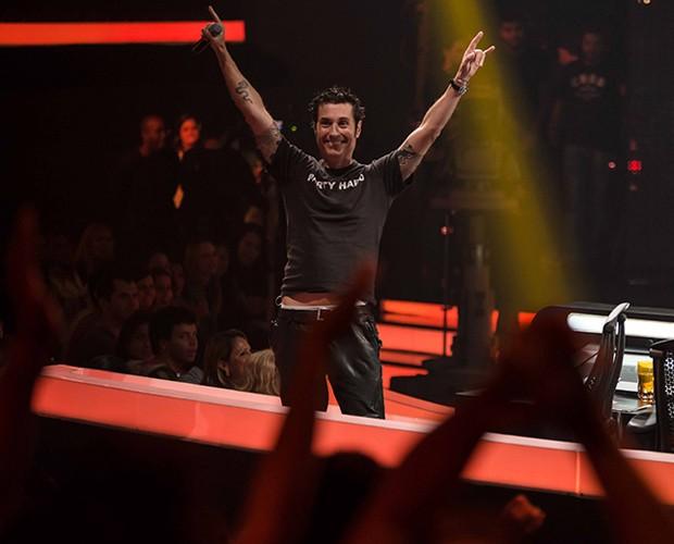 Dinho no palco (Foto: SuperStar/TV Globo)