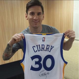 Messi camisa Curry (Foto: Reprodução / Instagram)
