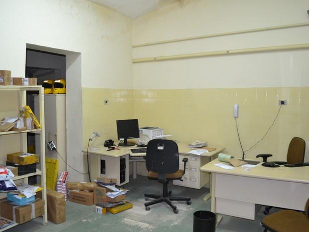 agência dos Correios de Sirinhaém onde gerente foi feito refém (Foto: Ascom Polícia Federal/ WhatsApp)