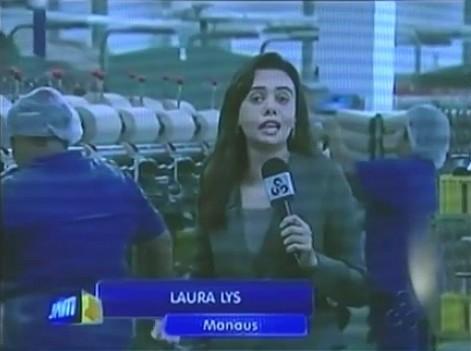 Jornalista Laura Lys é finalista no Prêmio CNI de Jornalismo (Foto: Amazônia TV)