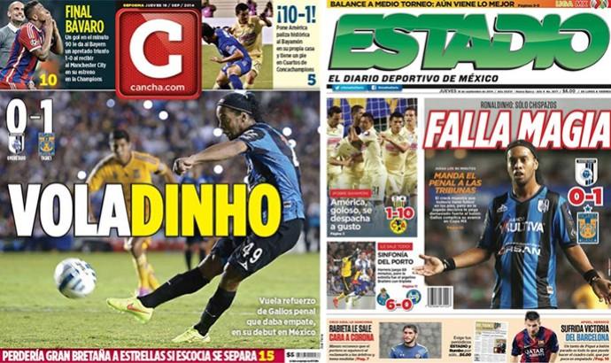 Jornais Ronaldinho (Foto: Reprodução)