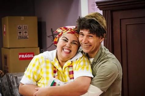 Fabiana Karla e Nelson Freitas no 'Zorra total' (Foto: Alex Carvalho/TV Globo)