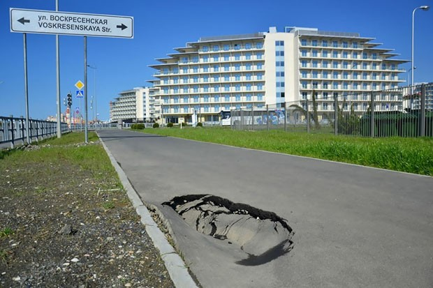 Construções olímpicas abandonadas (Foto: Alexander Valov/ Divulgação)