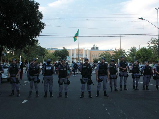Protestos, em Manaus (Foto: Tiago Melo/G1)