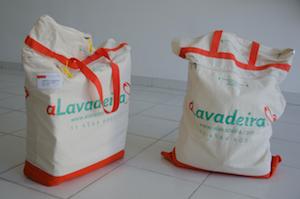 Os clientes recebem as sacolas de aLavadeira em casa, com um lacre (Foto: Divulgação)
