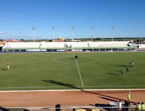 Estádio Nazarenão, em Goianinha (Foto: Fabiano de Oliveira)