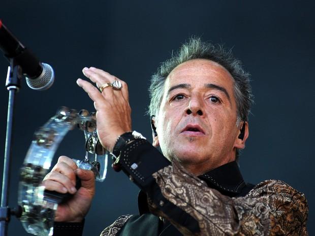 Nasi, do IRA! durante show no palco Sunset (Foto: Alexandre Durão/G1)