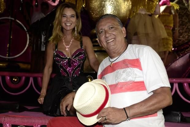 Galvão Bueno e Desirée Soares (Foto: Roberto Teixeira / ego)
