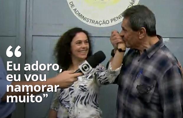 Após sair da prisão, Jefferson diz que 'vai namorar muito' (Foto: Reprodução / TV Globo)
