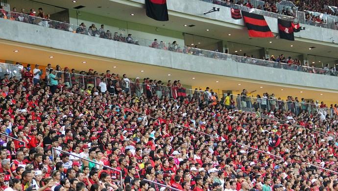 Um 'mar de gente' tomou conta do estádio manauara (Foto: Adeilson Albuquerque)