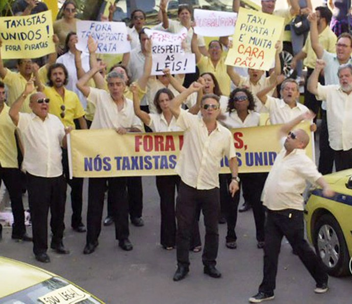 Esquete dos taxistas foi bastante comentada (Foto: TV Globo)