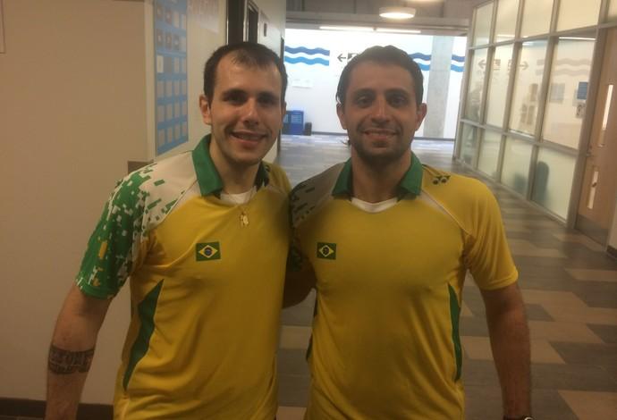 Daniel Paiola e Hugo Arthuso garantiram a medalha de bronze (Foto: Globoesporte.com)