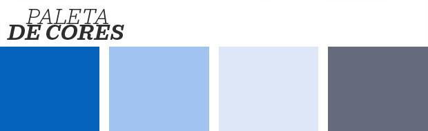Décor do dia: escada em tons de azul (Foto:  Reprodução)