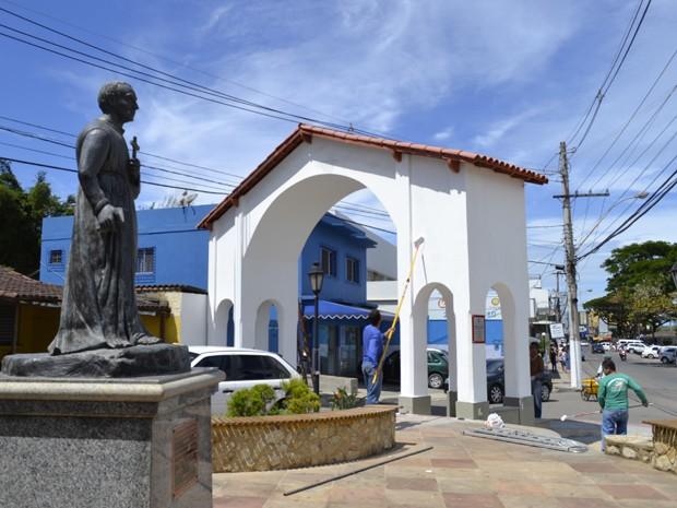 A cidade Anchieta, no Espírito Santo, prepara programação especial para a canonização de José de Anchieta (Foto: Amanda Monteiro/ G1 ES)