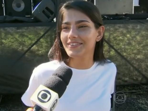 Ana Carolina é uma das candidatas no concurso do Tavalera Bruce (Foto: Reprodução/TV Globo)