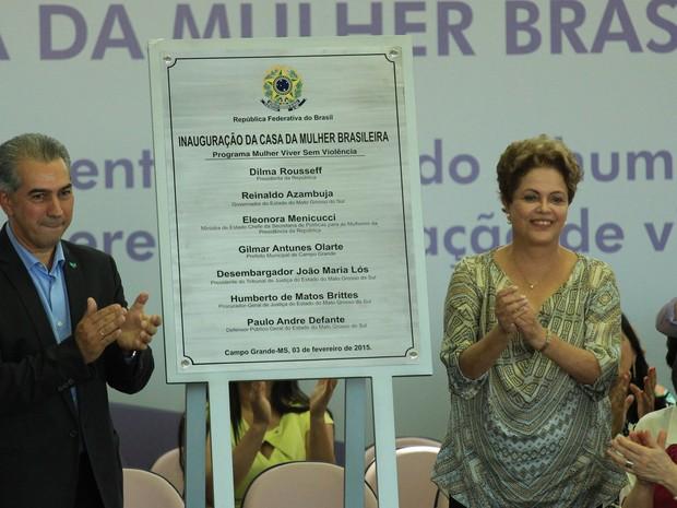 Inauguração da Casa da Mulher Brasileira em Campo Grande (Foto: Lucas Lourenço/G1MS)