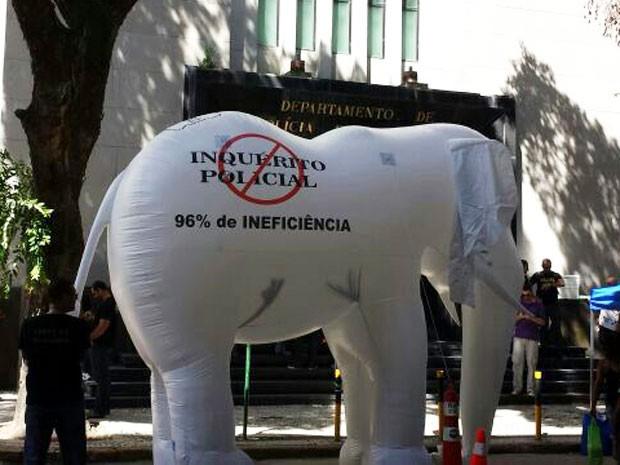 'Elefante' questiona inquéritos policiais (Foto: G1)