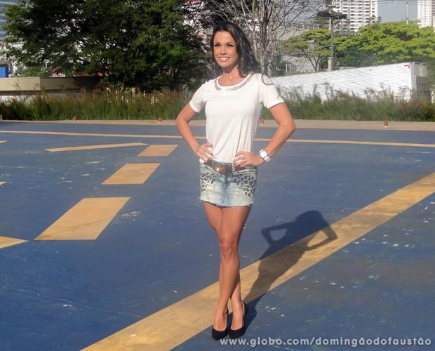 Fernanda D'avila arrasa no look deste domingo (Foto: Domingão do Faustão / TV Globo)