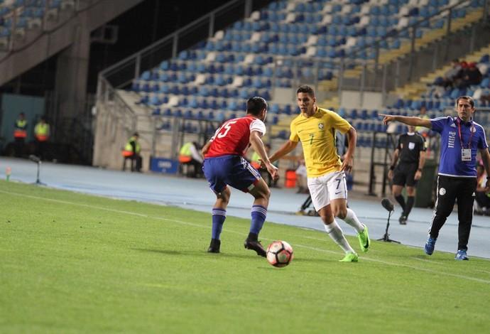 Brasil Paraguai Paulinho Sul-Americano Sub-17 (Foto: Divulgação/Sul-Americano Sub-17)