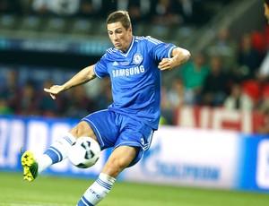 Fernando Torres gol Chelsea contra o Bayern de Munique Super copa (Foto: Agência AP)