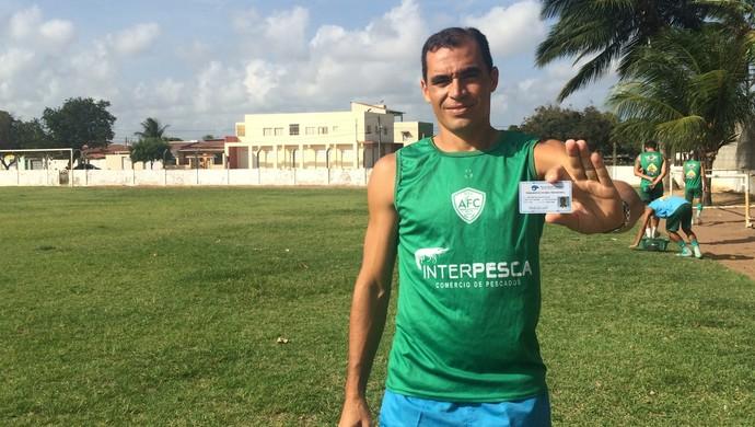 Geilson Santos - zagueiro do Alecrim (Foto: Luiz Henrique/GloboEsporte.com)