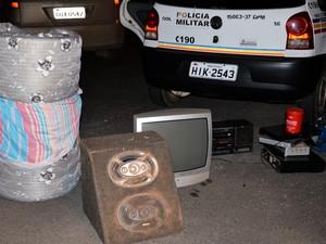 Material furtado de Perdizes (Foto: Willian Tardelli/Divulgação)