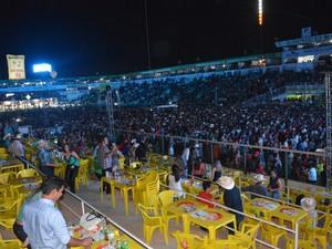 Arena do parque da APA ficou lotada durante show de terça-feira (Foto: Jeferson Carlos/ G1)