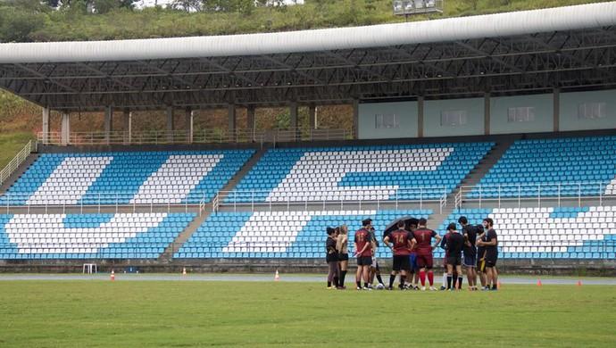 Treino UFJF Rugby e JF Rugby 1 (Foto: Caio Pereira/Divulgação)