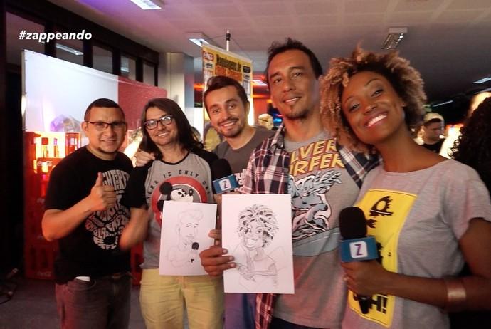 Moacyr e Jaque curtem Anime Jungle Party (Foto: Rede Amazônica)