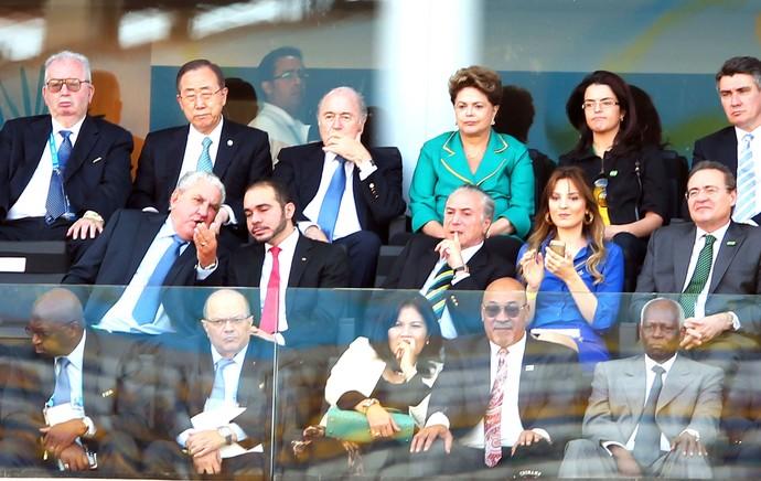 Dilma e Blatter Abertura Copa do Mundo (Foto: Marcos Ribolli)