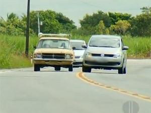 rodovia de mão dupla ultrapassagem (Foto: Inter TV)