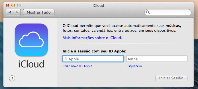 Entre com sua conta do iCloud (Foto: Reprodução/Helito Bijora)