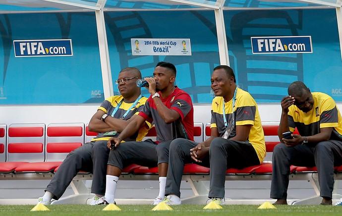 Eto´o no treino de Camarões (Foto: Jefferson Bernardes / VIPCOMM)