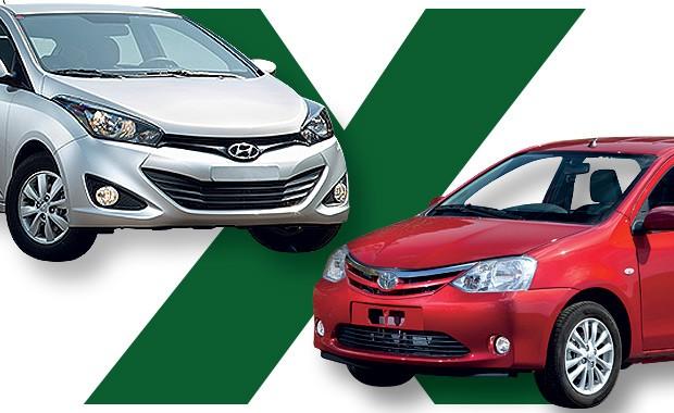Hyundai HB20 ou Toyota Etios: qual comprar? (Foto: Autoesporte)
