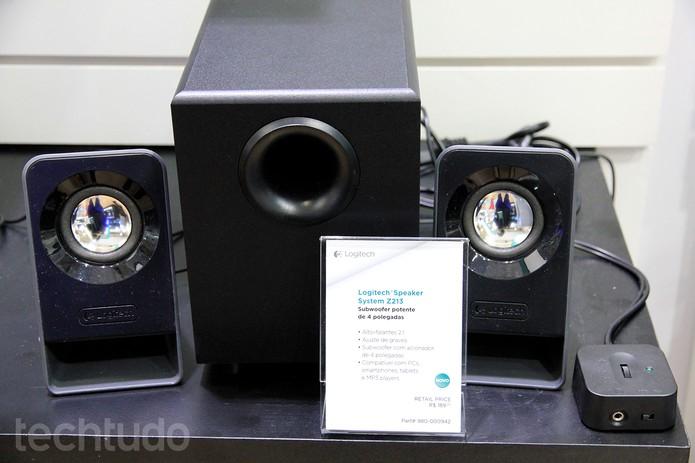 Modelo Multimedia Speakers Z213, da Logitech (Foto: Anna Kellen Bull/TechTudo)