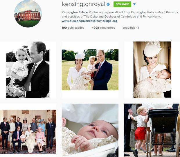 Página do Kensington Palace no Instagram (Foto: Reprodução)