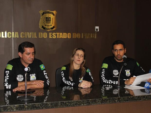 Delegados da Delegacia de Entorpecentes de Teresina (Foto: Patrícia Andrade/G1)