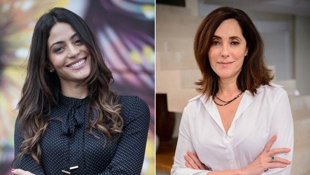 Carol Castro grava 'Velho Chico' e comemora (Pedro Curi e Alex Carvalho/ Globo)