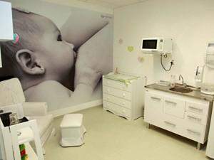 Sala de apoio à amamentação da Brasilprev (Foto: Divulgação/Brasilprev/Luiz Doro)
