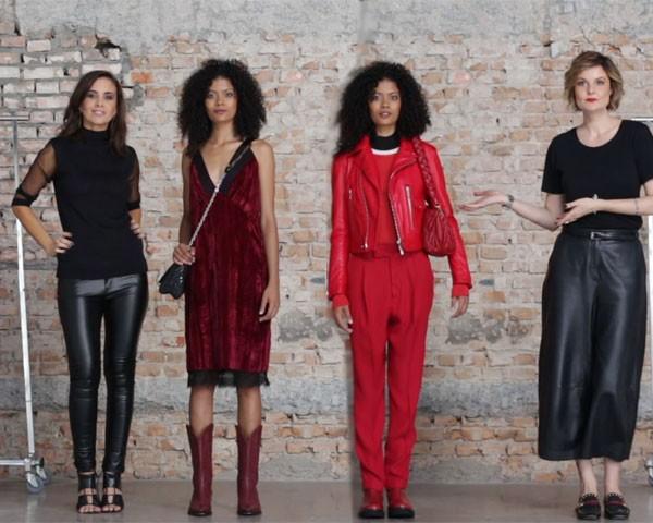 As editoras de moda Camila Lima e Larissa Lucchese montam looks vermelhos perfeitos para o inverno (Foto: Arturo Querzoli)