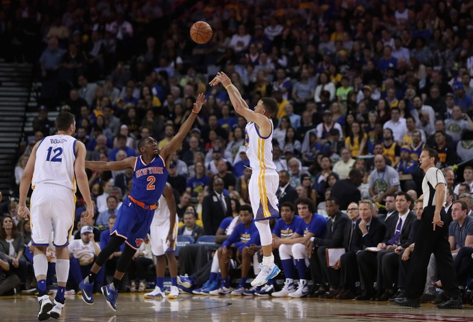 Stephen Curry Warriors x Knicks NBA (Foto: Getty)