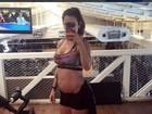 Paula Morais mostra barriguinha de grávida às vésperas da Páscoa