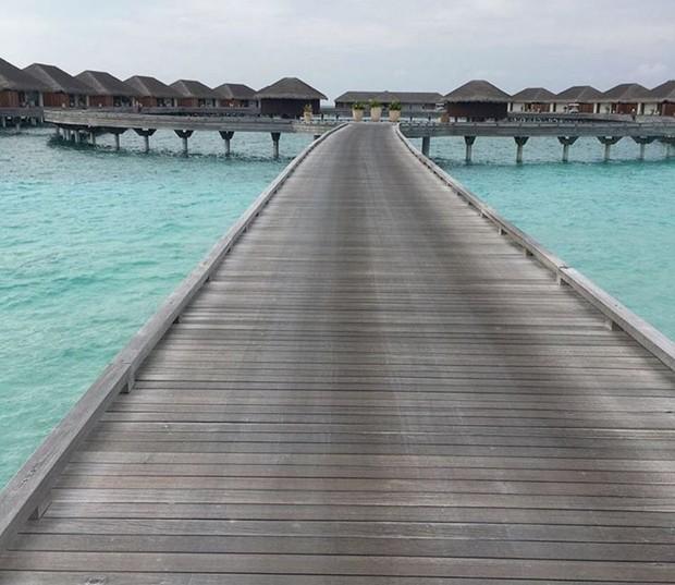 Resort nas Ilhas Maldivas em que Talula Pascoli está com o marido (Foto: Reprodução/Instagram)