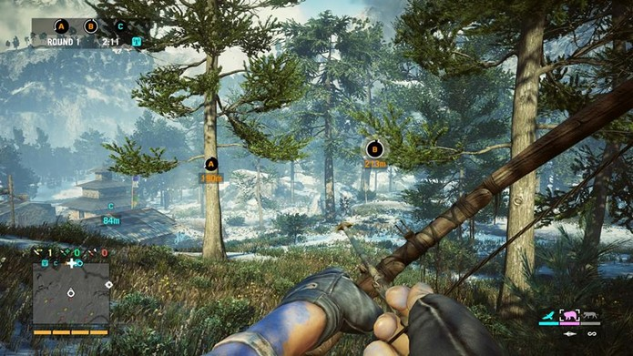 Arco é ótima opção de arma para os modos multiplayer (Foto: Reprodução/Thiago Barros)