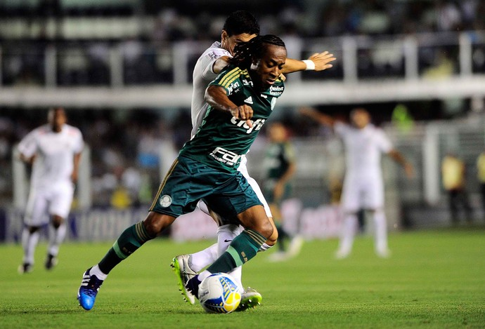 Santos x Palmeiras - lance de jogo (Foto: Marcos Ribolli)