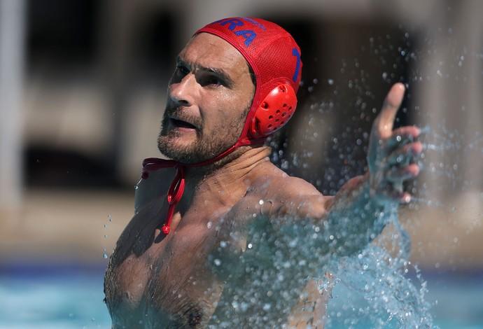 O goleiro sérvio Slobodan Soro, da seleção brasileira de polo aquático (Foto: Satiro Sodré/SSPress/CBDA)