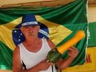 Abobrinha verde e amarela vira atração de bar em José Bonifácio